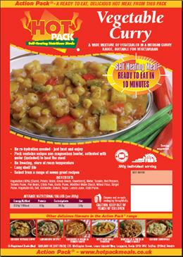 Picture of Hot Pack Action Pack Vegetarian Main Meal