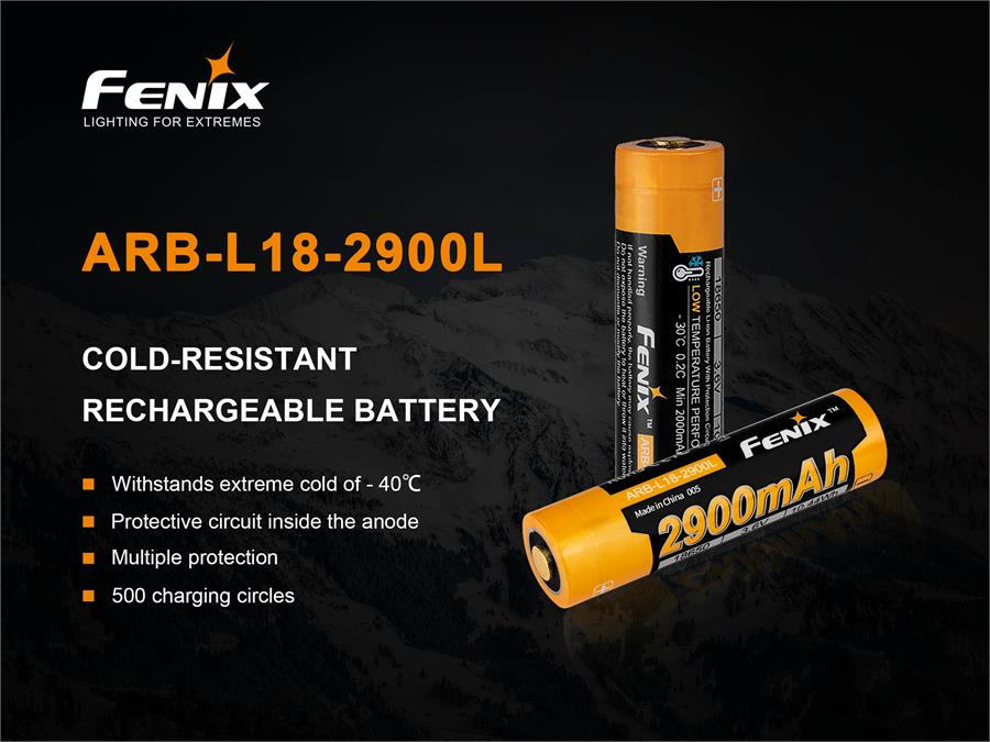Picture of Fenix 18650 Cold Weather Rechargeable Battery