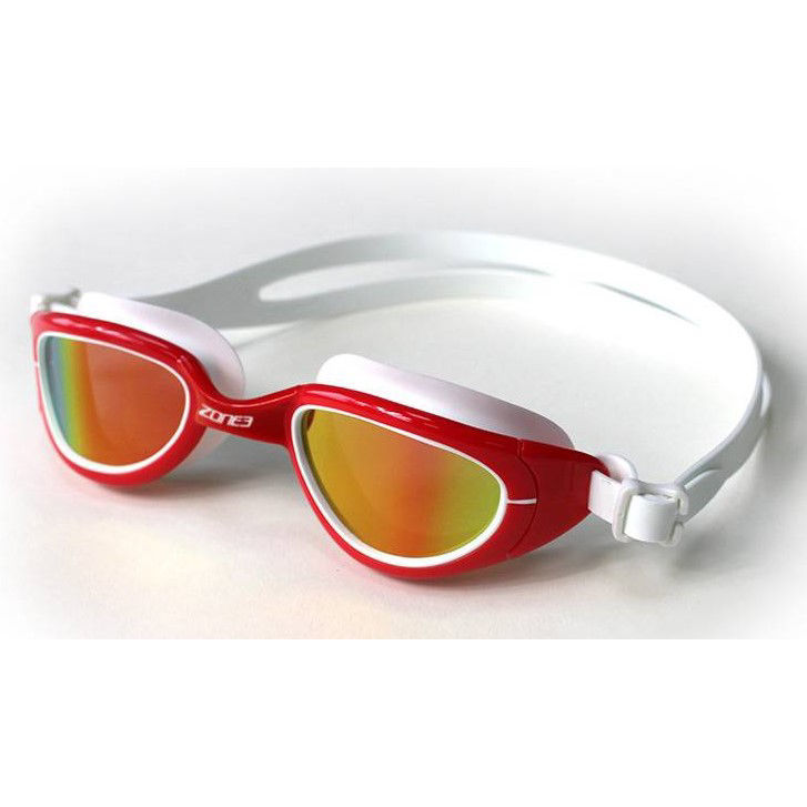 Zone3 Attack Goggles - Red / White - Lens Polarized Gold