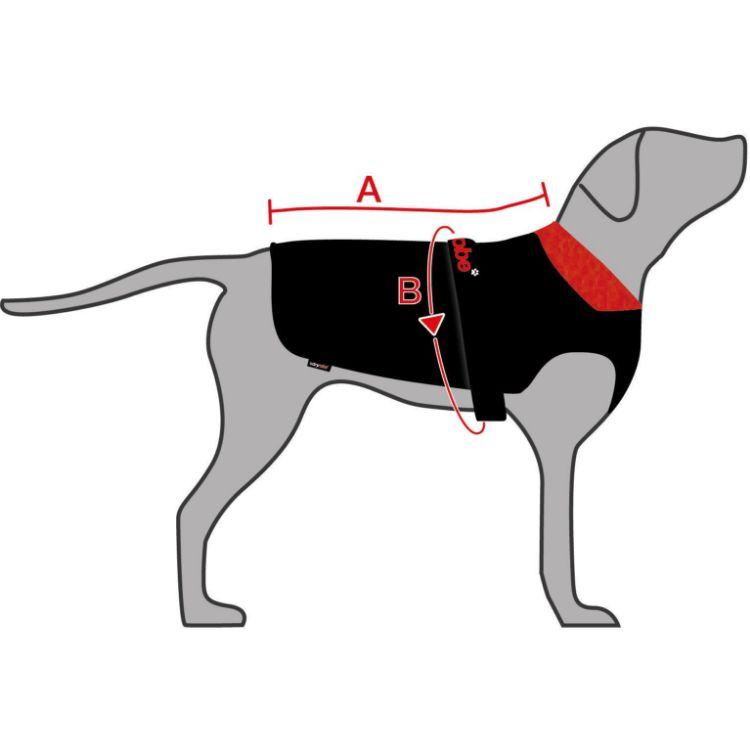 Dryrobe Dog Robe - Black / Red