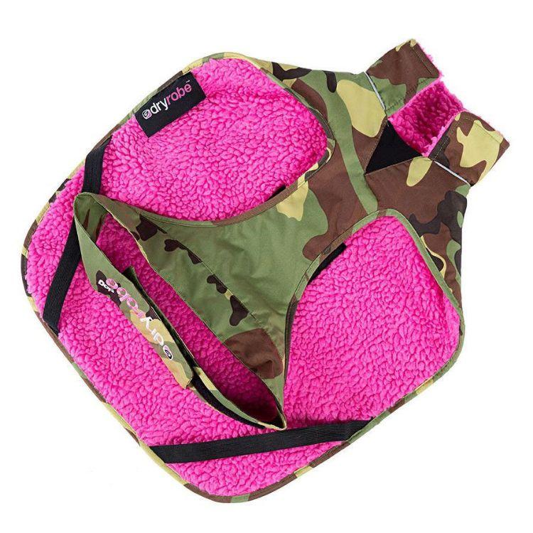 Dryrobe Dog Robe - Camo / Pink
