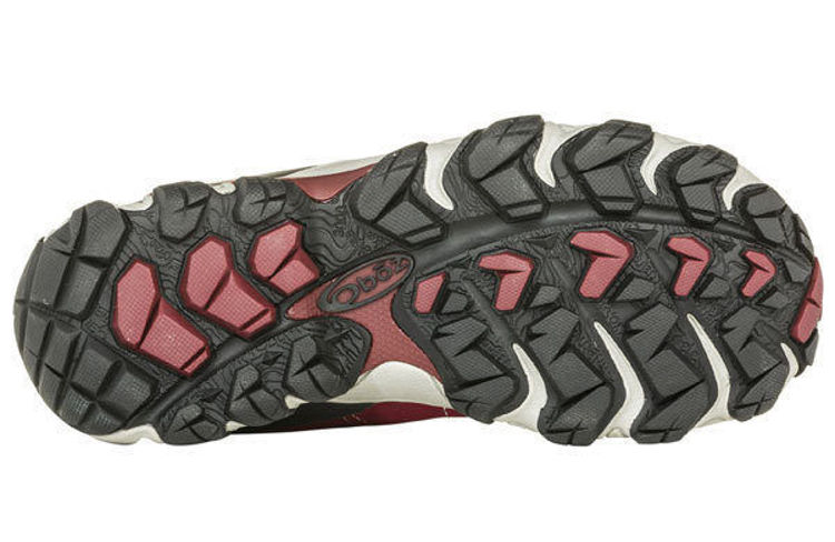 Oboz Women's Bridger Mid Bdry - Wide, Ob-Rio Red, sole