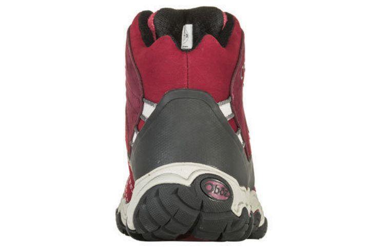 Oboz Women's Bridger Mid Bdry - Wide, Ob-Rio Red, heel